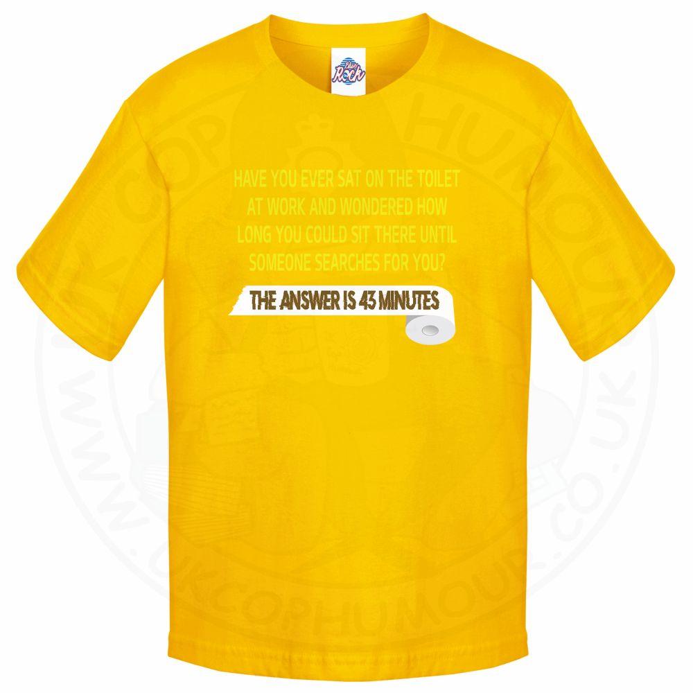 Kids TOILET SEARCH  T-Shirt - Yellow, 12-13 Years