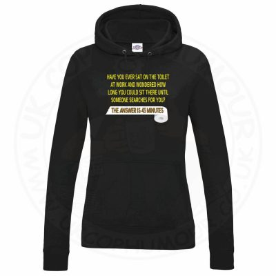 Ladies TOILET SEARCH  Hoodie - Black, 18