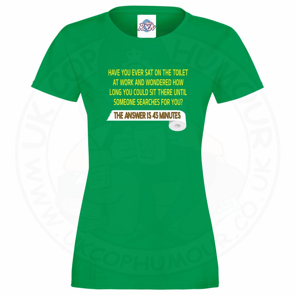 Ladies TOILET SEARCH  T-Shirt - Kelly Green, 18