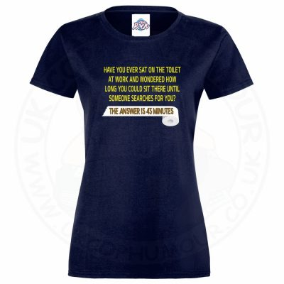 Ladies TOILET SEARCH  T-Shirt - Navy, 18