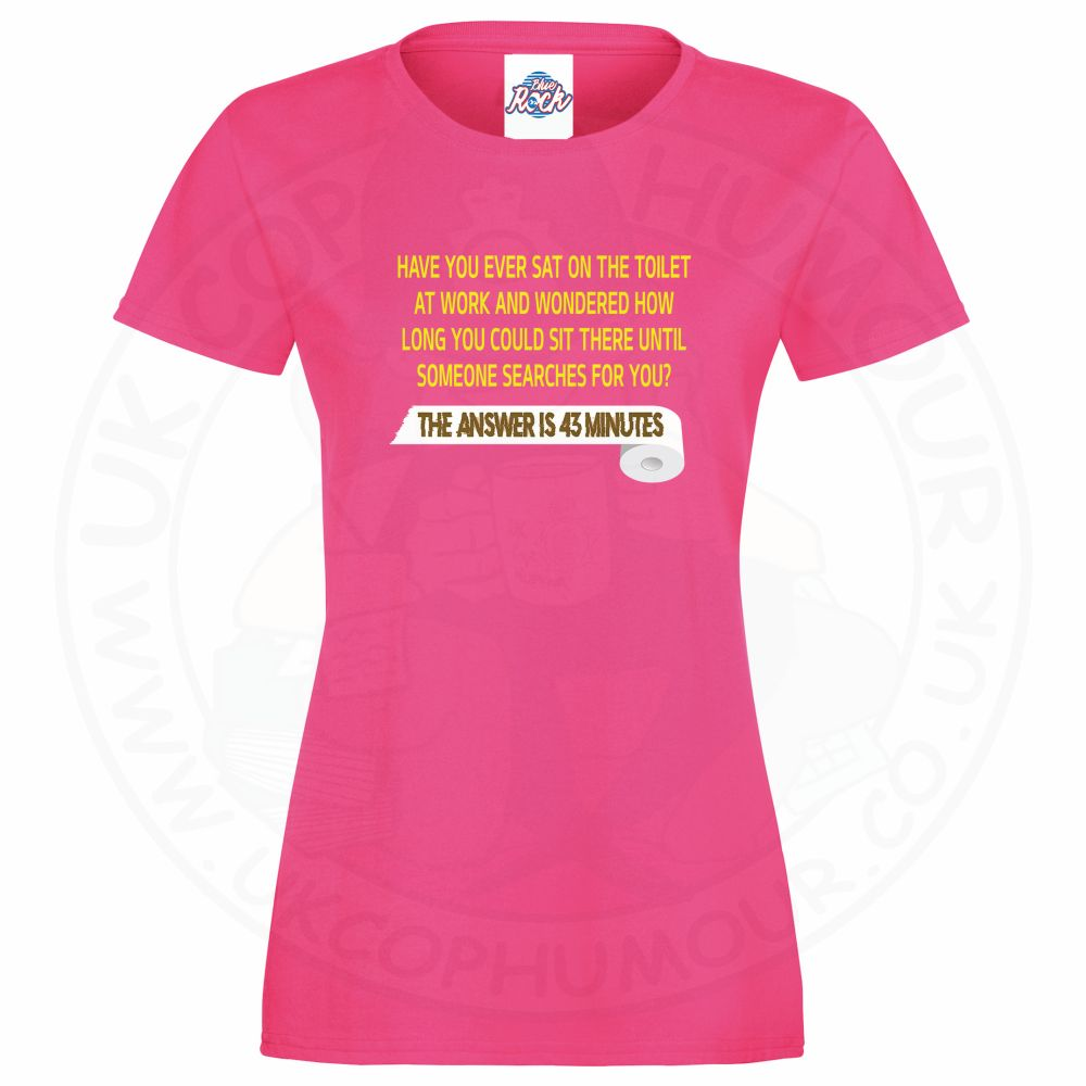 Ladies TOILET SEARCH  T-Shirt - Pink, 18