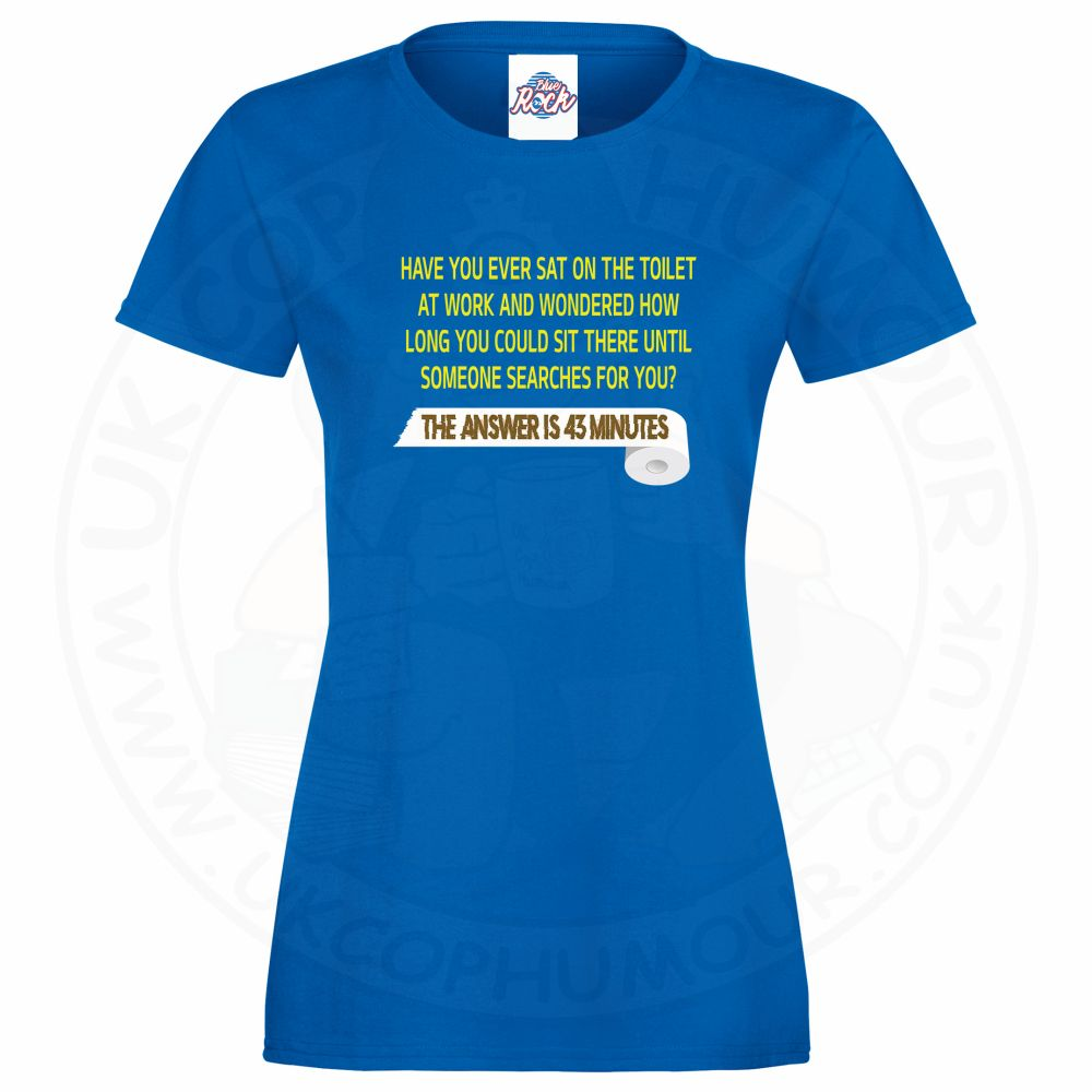Ladies TOILET SEARCH  T-Shirt - Royal Blue, 18
