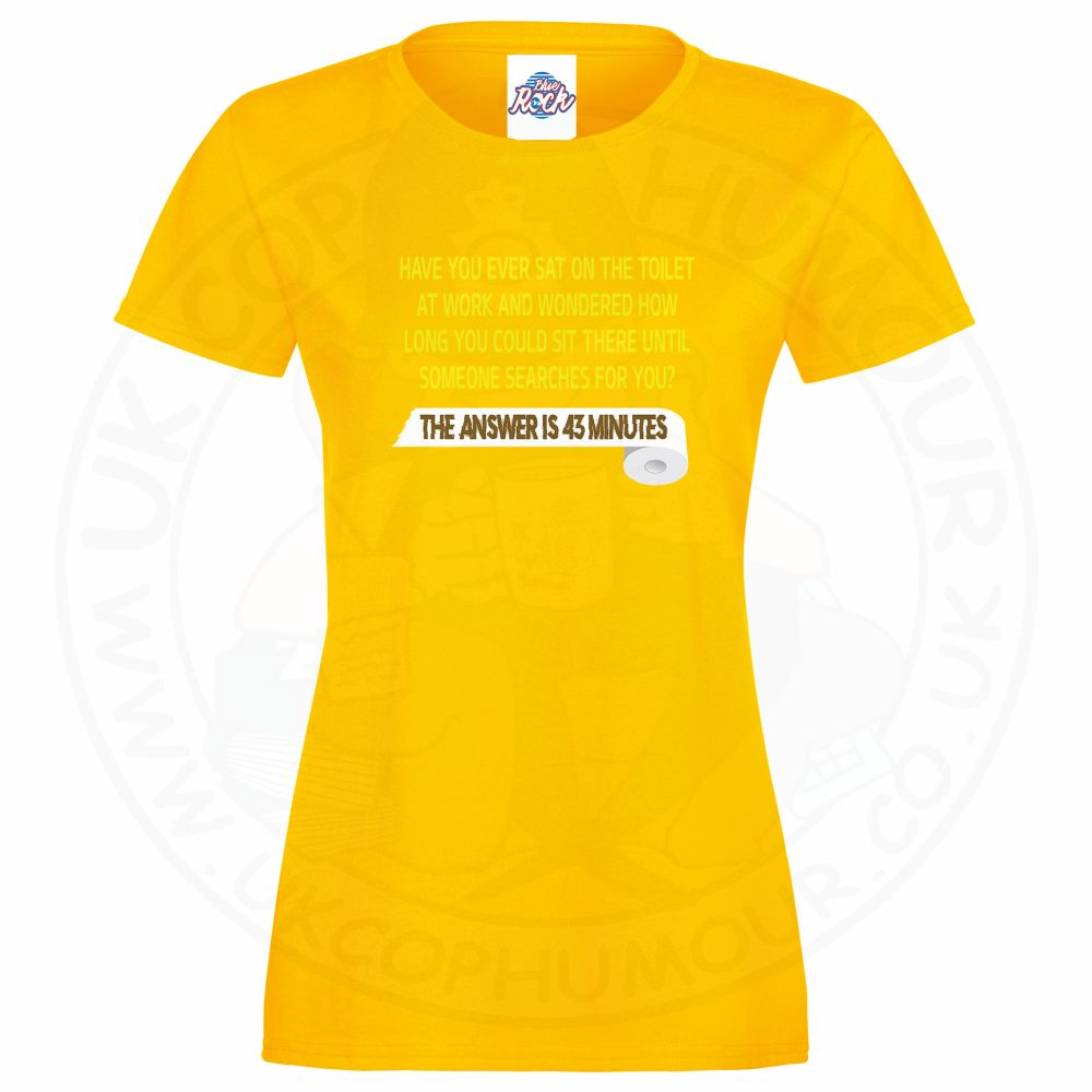 Ladies TOILET SEARCH  T-Shirt - Yellow, 18