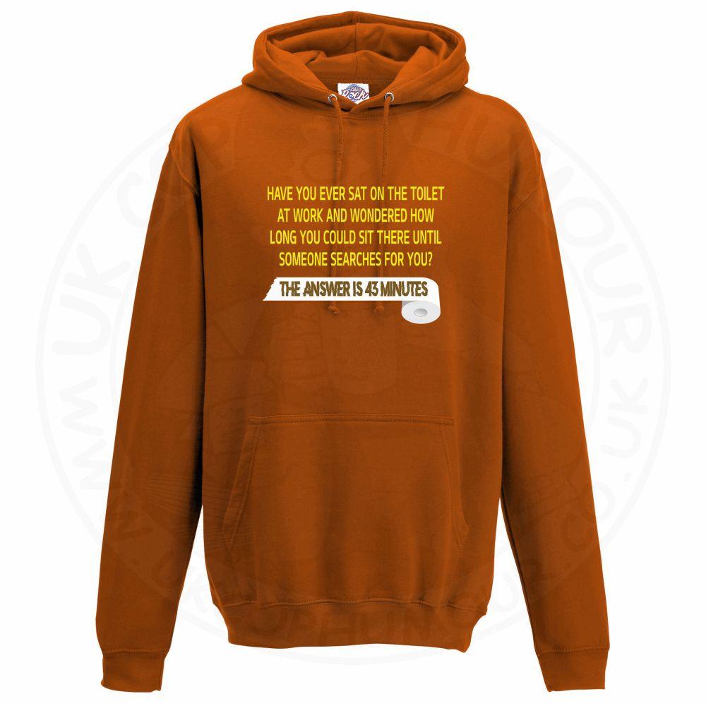 Unisex TOILET SEARCH  Hoodie - Orange, 2XL