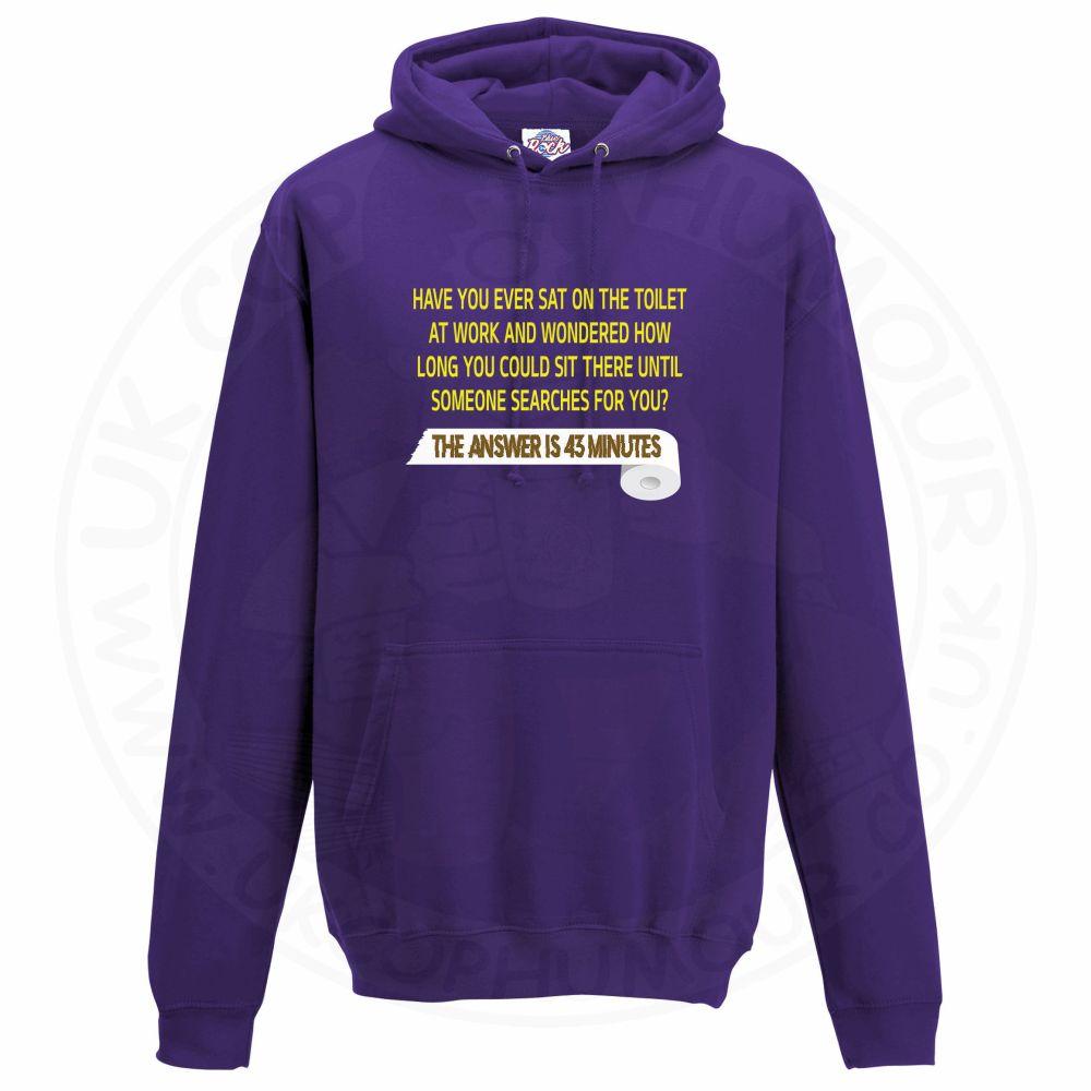 Unisex TOILET SEARCH  Hoodie - Purple, 3XL