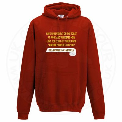 Unisex TOILET SEARCH  Hoodie - Red, 3XL