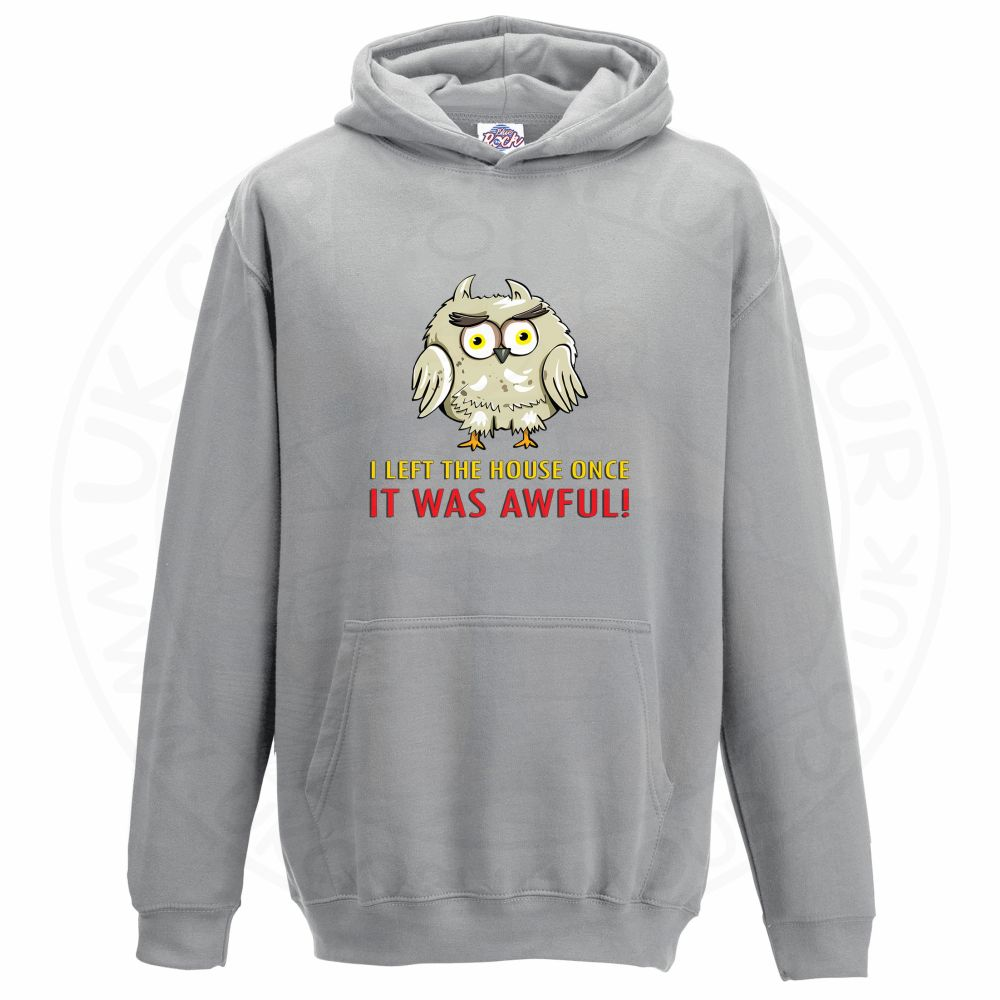Kids I LEFT THE HOUSE ONCE Hoodie - Grey, 12-13 Years