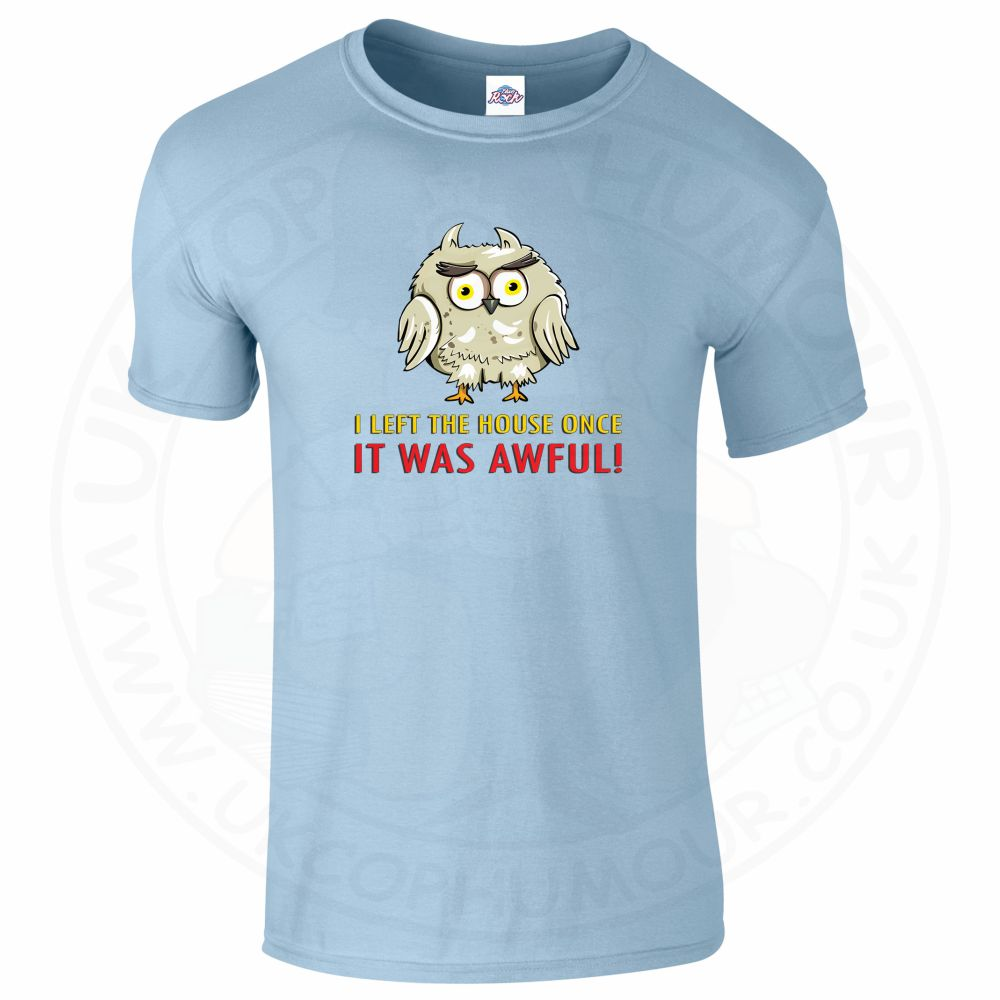 Mens I LEFT THE HOUSE ONCE T-Shirt - Light Blue, 2XL