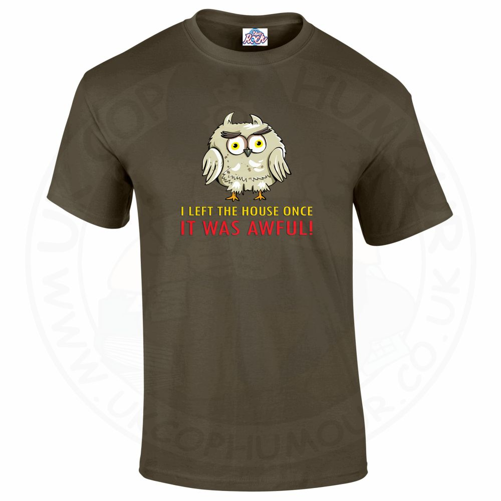 Mens I LEFT THE HOUSE ONCE T-Shirt - Olive Green, 2XL