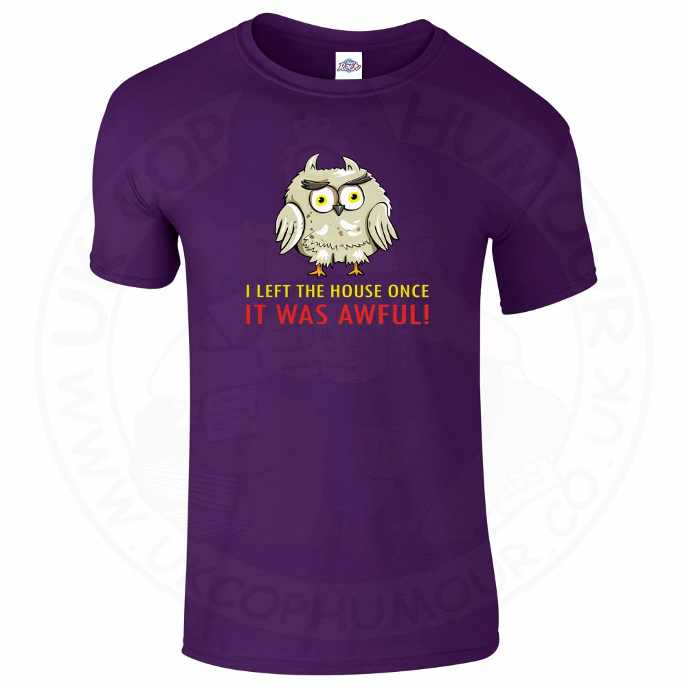 Mens I LEFT THE HOUSE ONCE T-Shirt - Purple, 2XL