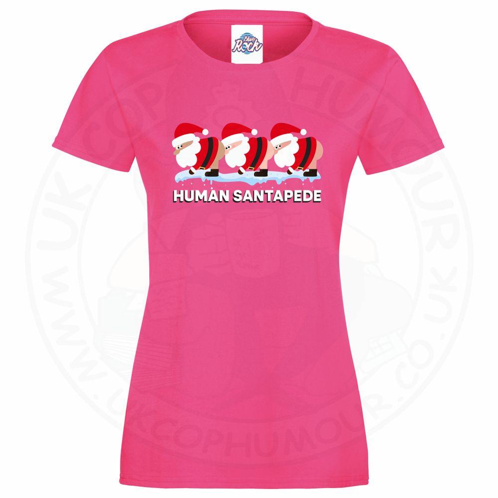 Ladies HUMAN SANTAPEDE T-Shirt - Pink, 18