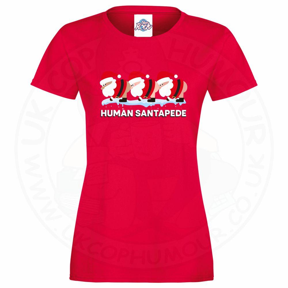 Ladies HUMAN SANTAPEDE T-Shirt - Red, 18
