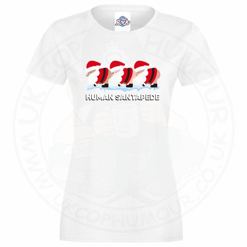 Ladies HUMAN SANTAPEDE T-Shirt - White, 18