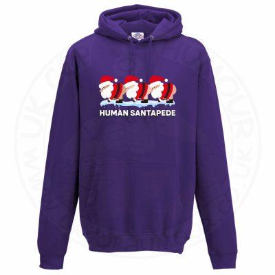 Unisex HUMAN SANTAPEDE Hoodie - Purple, 3XL