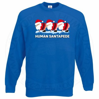 HUMAN SANTAPEDE Sweatshirt - Royal Blue, 2XL