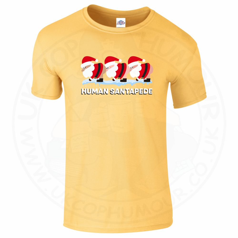 Mens HUMAN SANTAPEDE T-Shirt - Daisy, 2XL