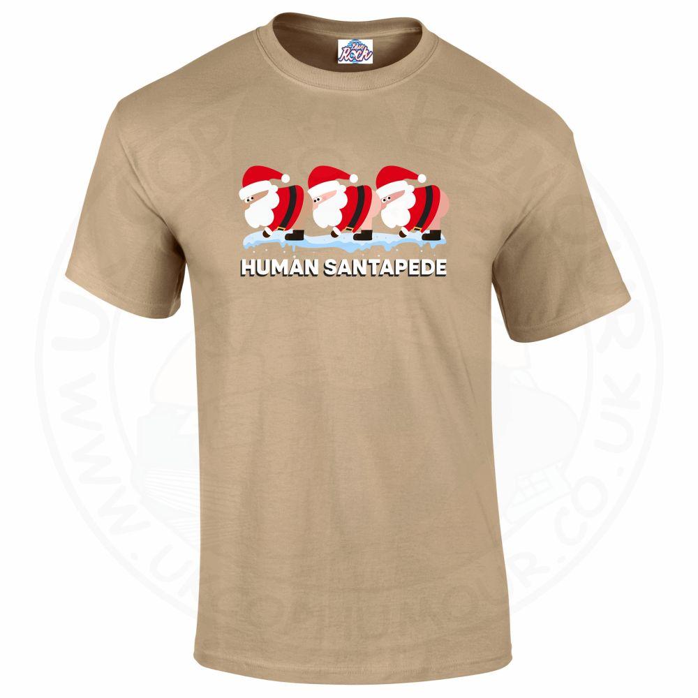 Mens HUMAN SANTAPEDE T-Shirt - Desert, 2XL