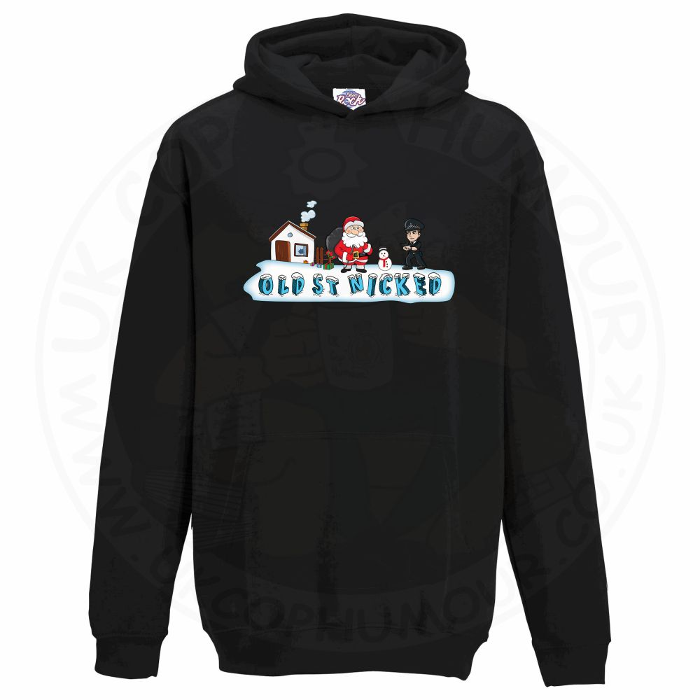 Kids OLD ST NICKED Hoodie - Black, 12-13 Years