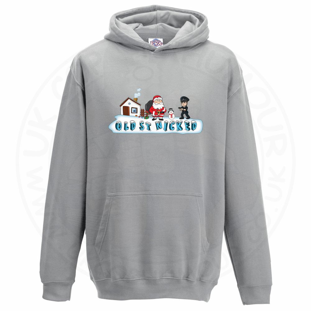 Kids OLD ST NICKED Hoodie - Grey, 12-13 Years