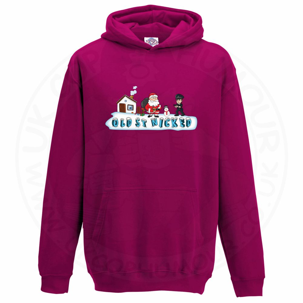Kids OLD ST NICKED Hoodie - Hot Pink, 12-13 Years