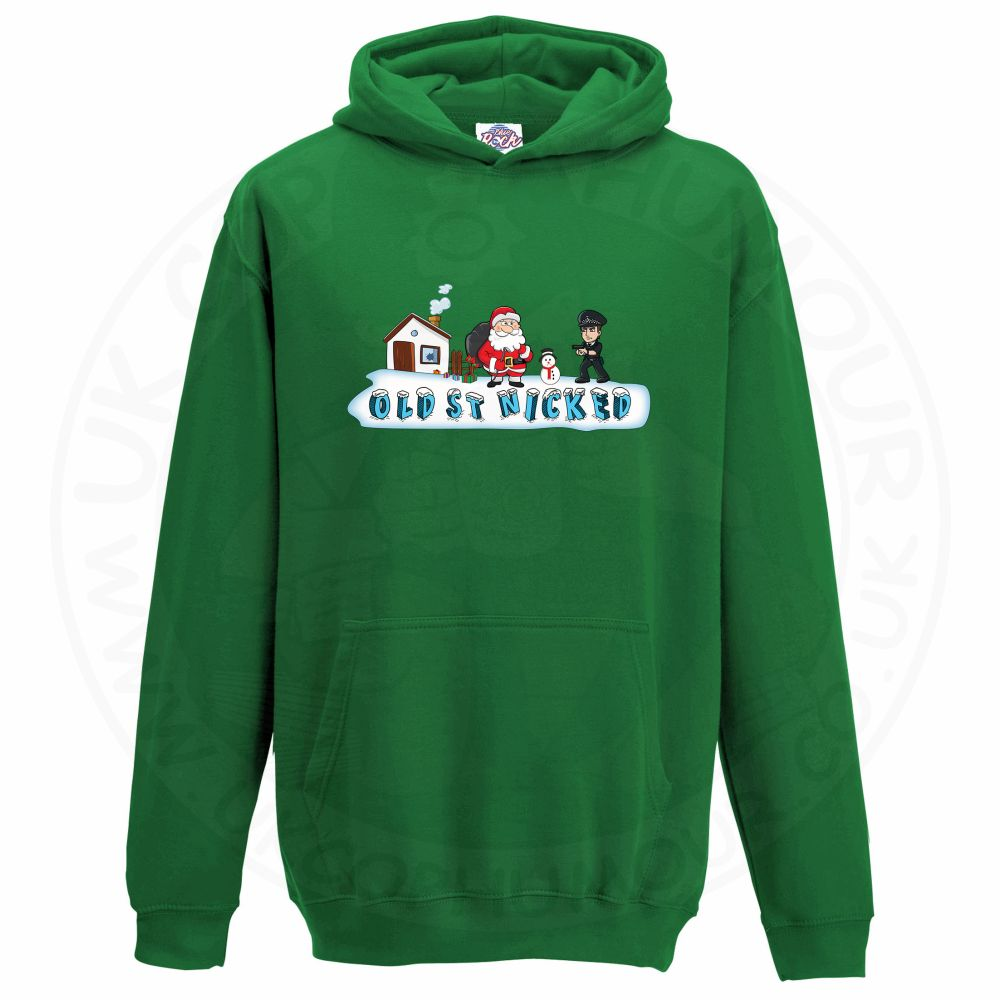 Kids OLD ST NICKED Hoodie - Kelly Green, 12-13 Years