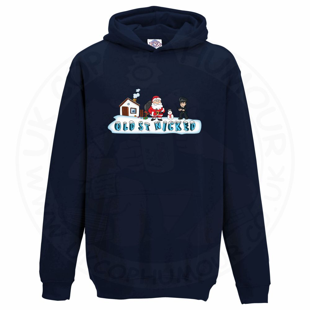 Kids OLD ST NICKED Hoodie - Navy, 12-13 Years