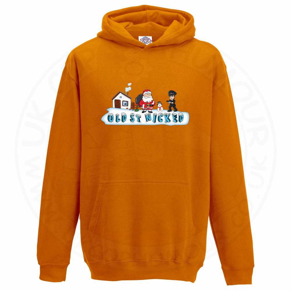 Kids OLD ST NICKED Hoodie - Orange, 12-13 Years