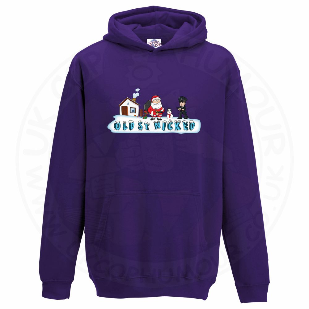 Kids OLD ST NICKED Hoodie - Purple, 12-13 Years