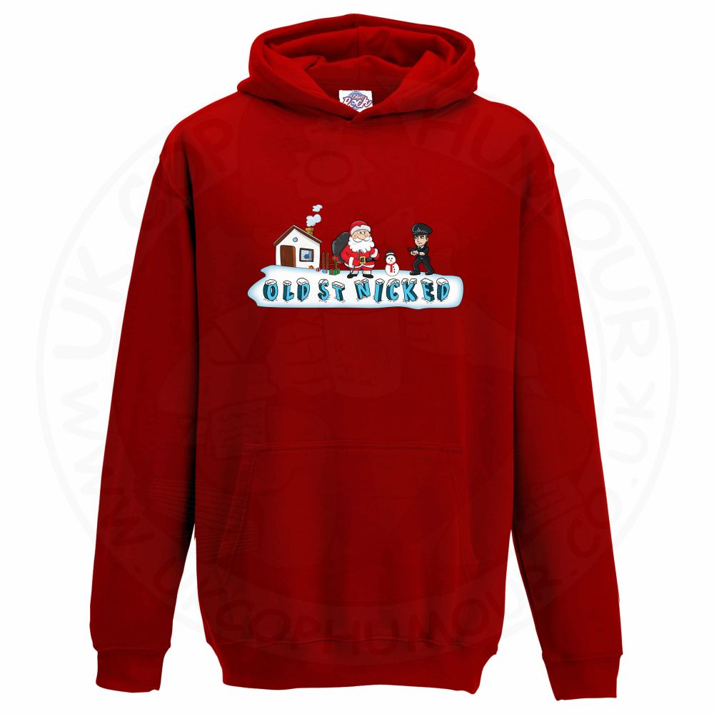 Kids OLD ST NICKED Hoodie - Red, 12-13 Years