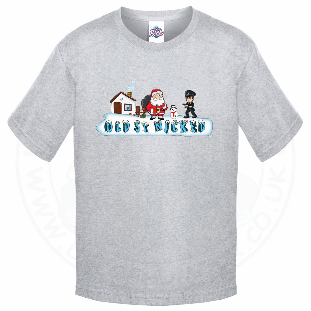 Kids OLD ST NICKED T-Shirt - Grey, 12-13 Years