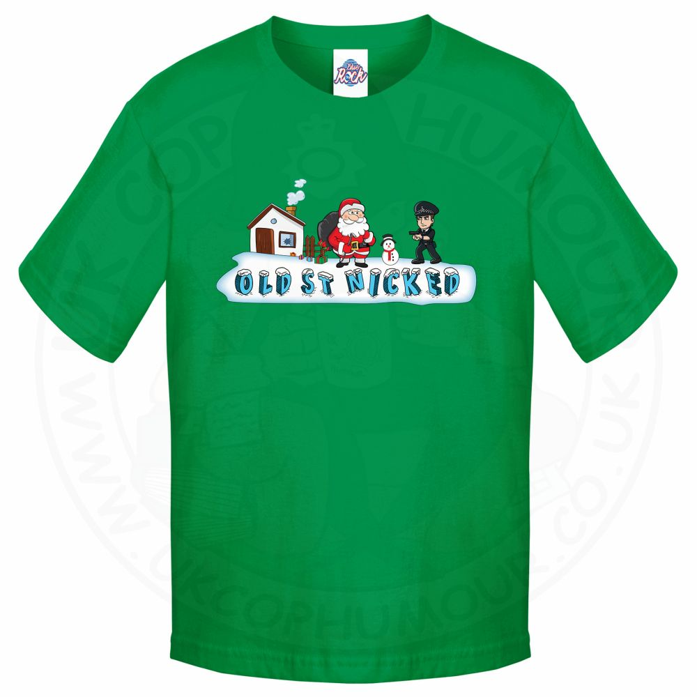 Kids OLD ST NICKED T-Shirt - Kelly Green, 12-13 Years