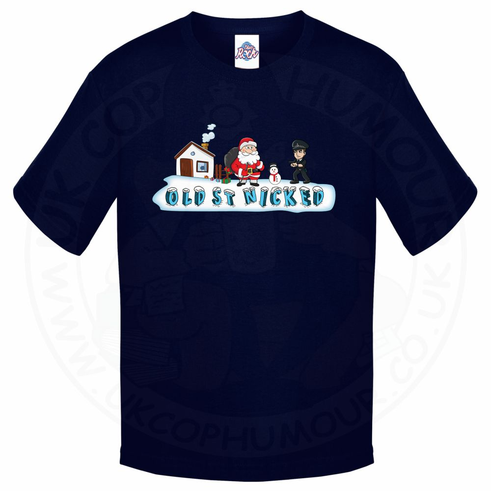 Kids OLD ST NICKED T-Shirt - Navy, 12-13 Years