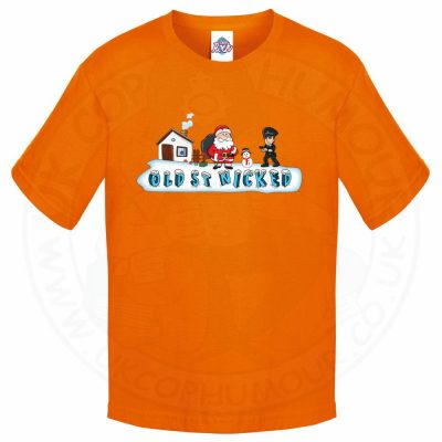 Kids OLD ST NICKED T-Shirt - Orange, 12-13 Years