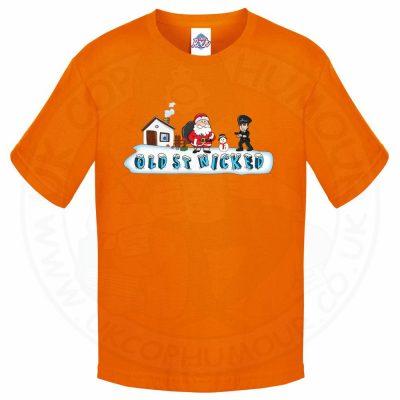 Kids OLD ST NICKED T-Shirt - Orange, 12-13 Years