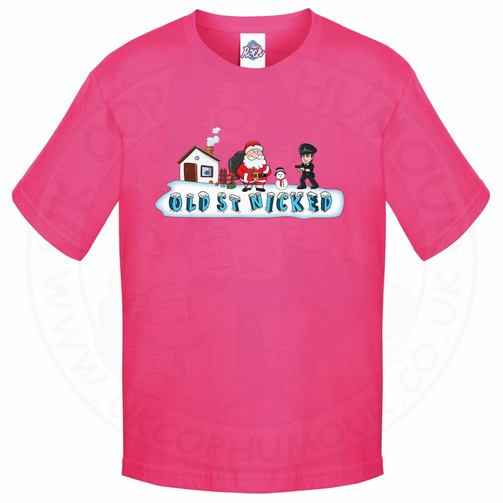 Kids OLD ST NICKED T-Shirt - Pink, 12-13 Years