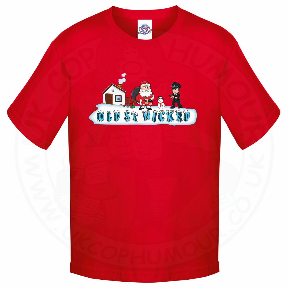 Kids OLD ST NICKED T-Shirt - Red, 12-13 Years