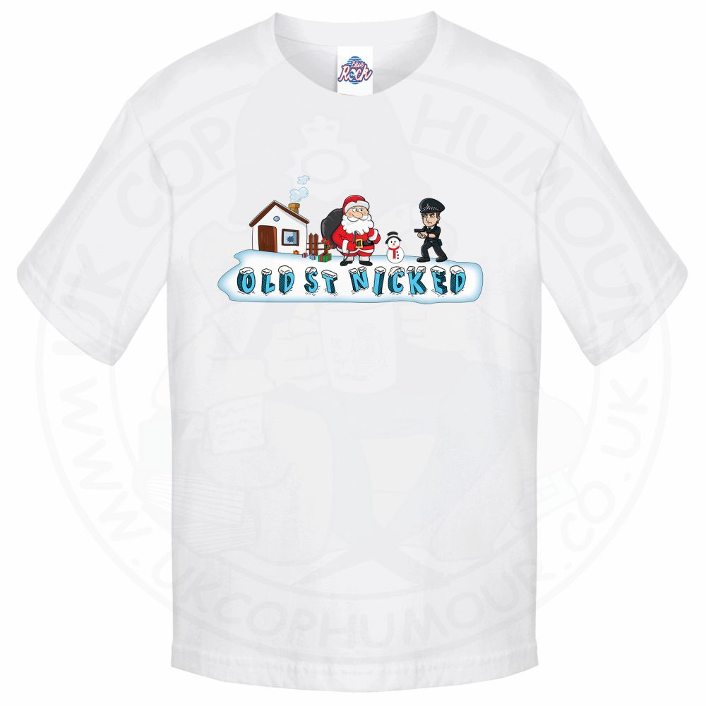 Kids OLD ST NICKED T-Shirt - White, 12-13 Years