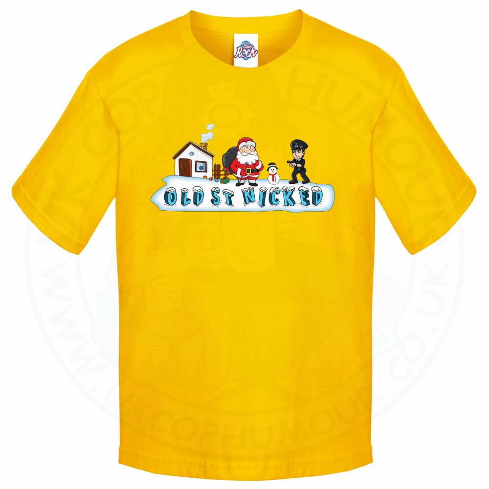 Kids OLD ST NICKED T-Shirt - Yellow, 12-13 Years
