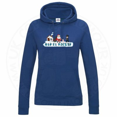 Ladies OLD ST NICKED Hoodie - Royal Blue, 18