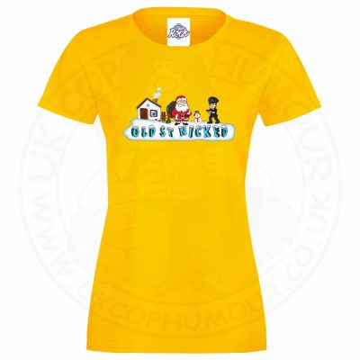 Ladies OLD ST NICKED T-Shirt - Yellow, 18