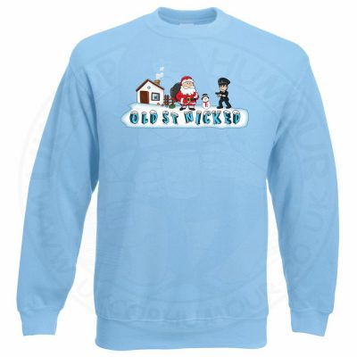 OLD ST NICKED Sweatshirt - Sky Blue, 2XL