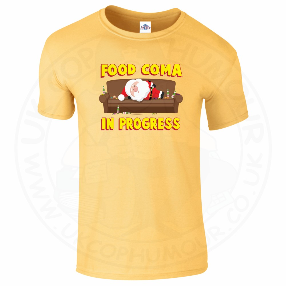 Mens FOOD COMA IN PROGESS T-Shirt - Daisy, 2XL