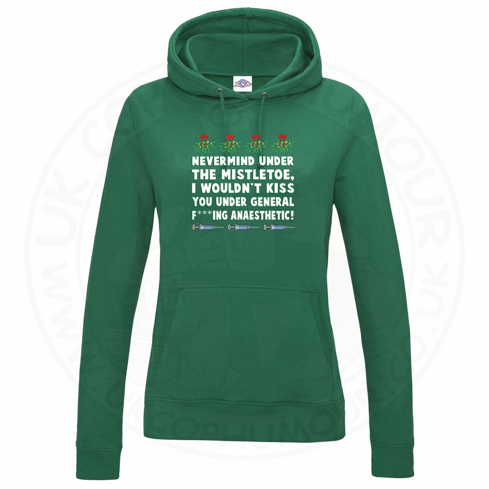 Ladies MISTLETOE ANAESTHETIC Hoodie - Bottle Green, 18