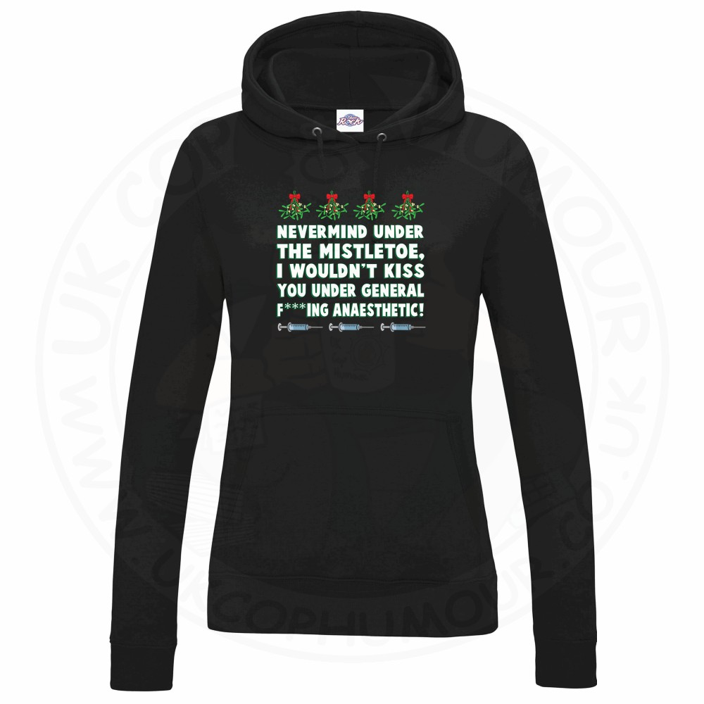 Ladies MISTLETOE ANAESTHETIC Hoodie - Black, 18
