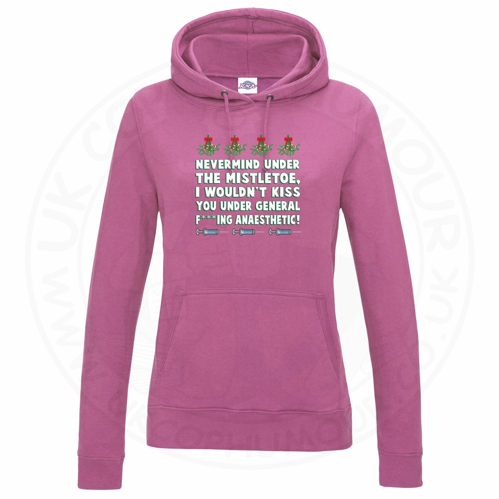 Ladies MISTLETOE ANAESTHETIC Hoodie - Baby Pink, 18