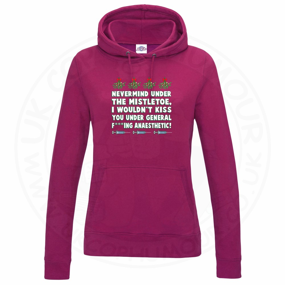 Ladies MISTLETOE ANAESTHETIC Hoodie - Hot Pink, 18