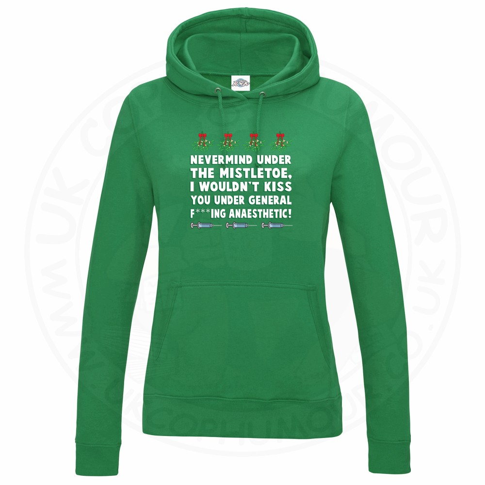 Ladies MISTLETOE ANAESTHETIC Hoodie - Kelly Green, 18