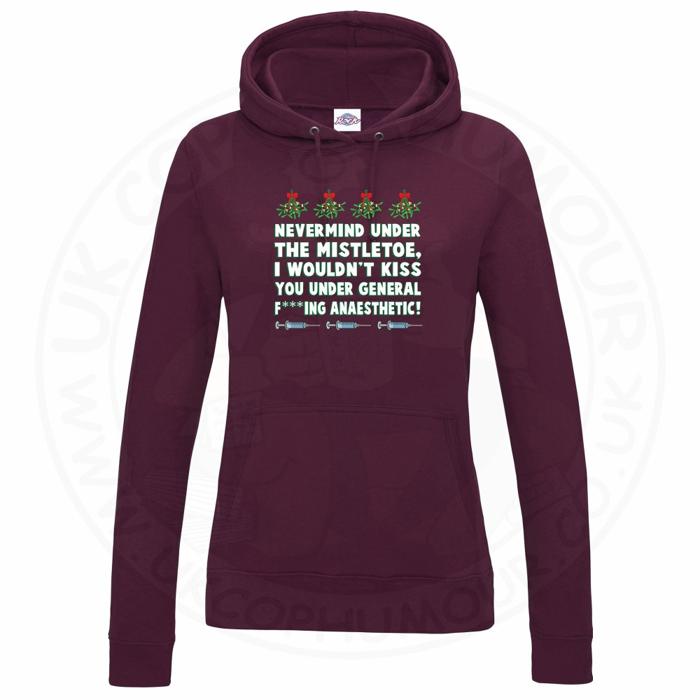 Ladies MISTLETOE ANAESTHETIC Hoodie - Maroon, 18