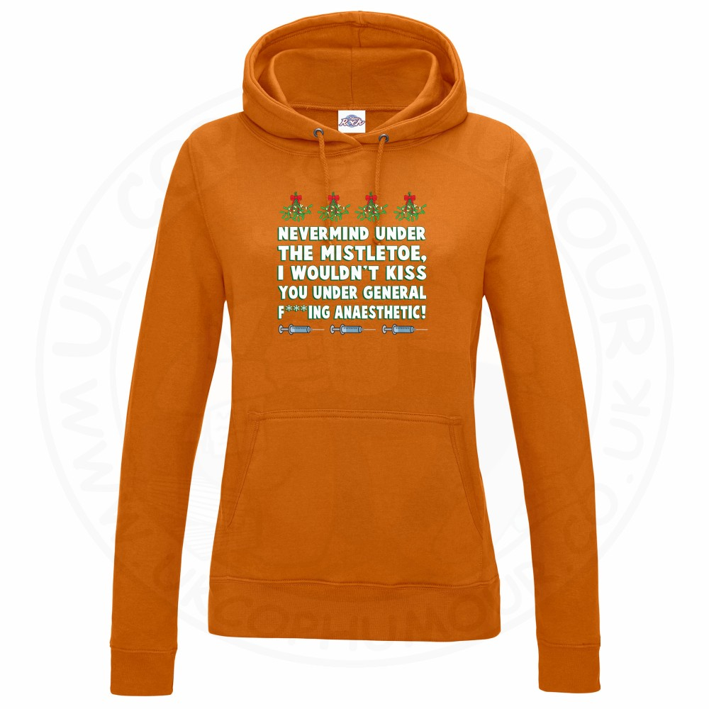 Ladies MISTLETOE ANAESTHETIC Hoodie - Orange, 18