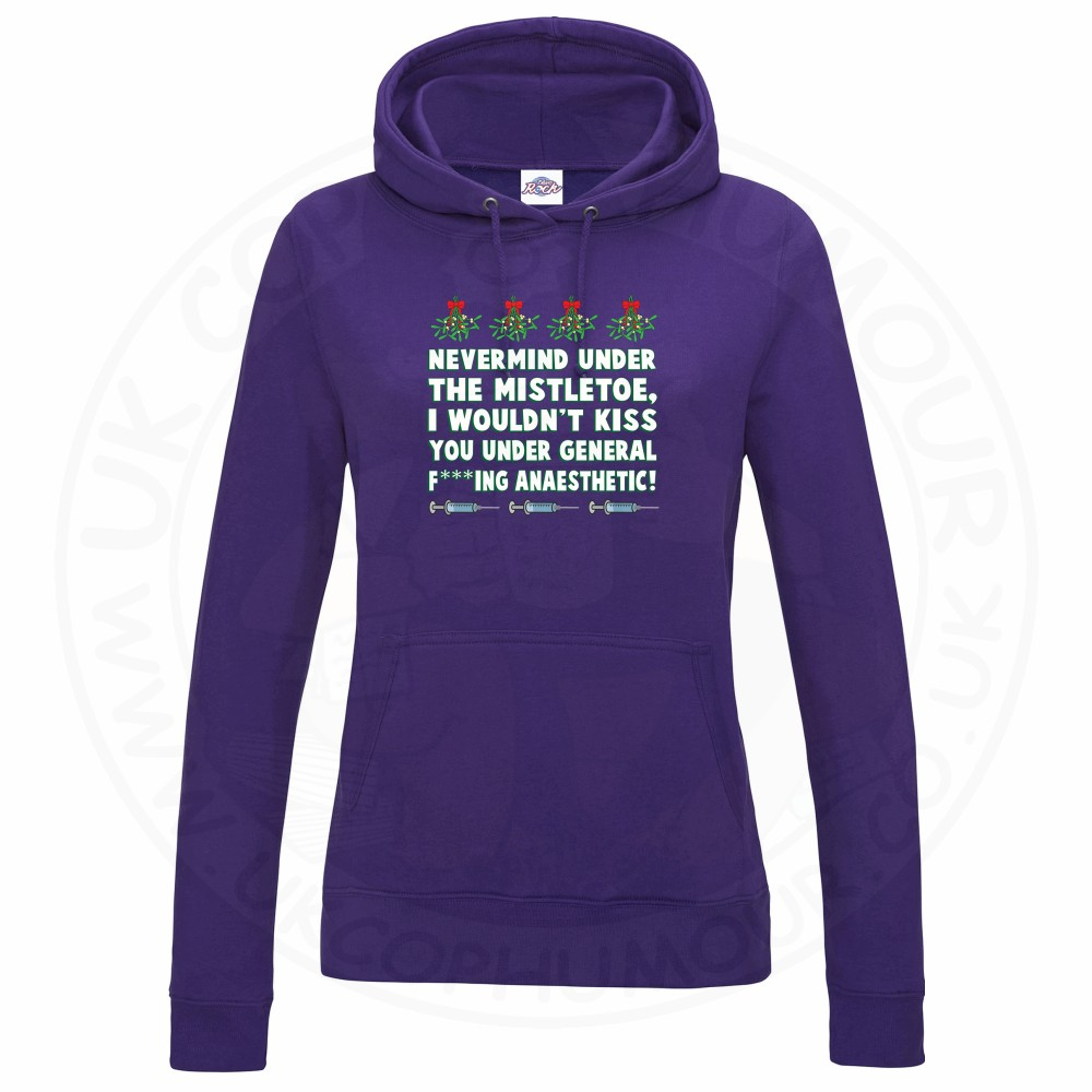 Ladies MISTLETOE ANAESTHETIC Hoodie - Purple, 18